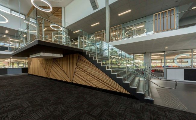 BBC 8 stair school canberra void architecture